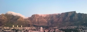 Table Mountain in Cape Town with Social Media