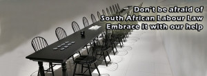 South African Labour boardroom example