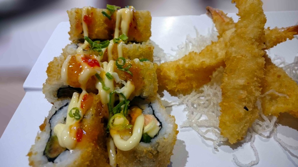 Salmon rolls deep fried from Active Sushi