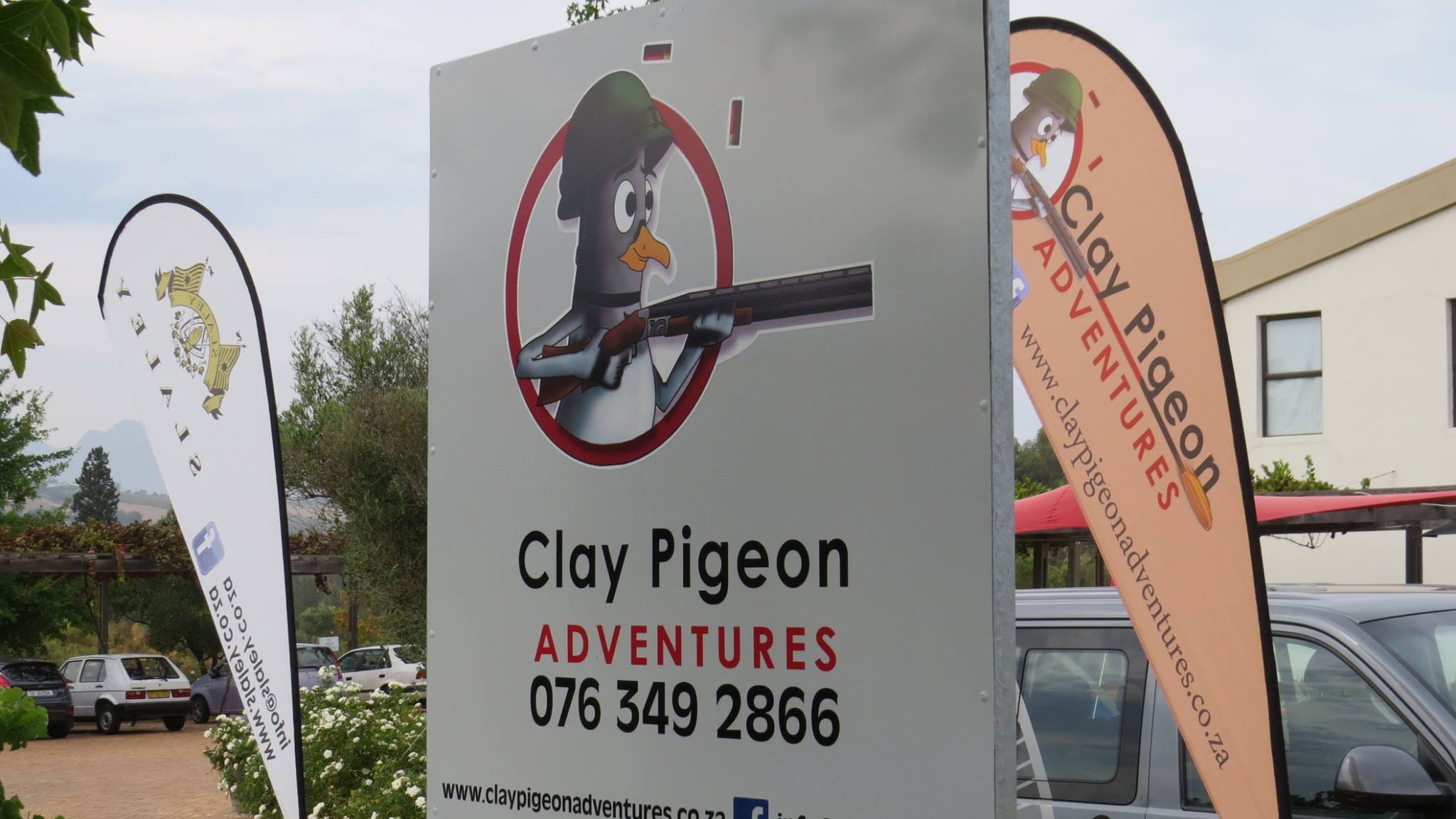 Information board about the Clay Pigeon shooting at Slaley